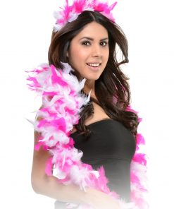 Kit Bachelorette Feather Boa Tiara