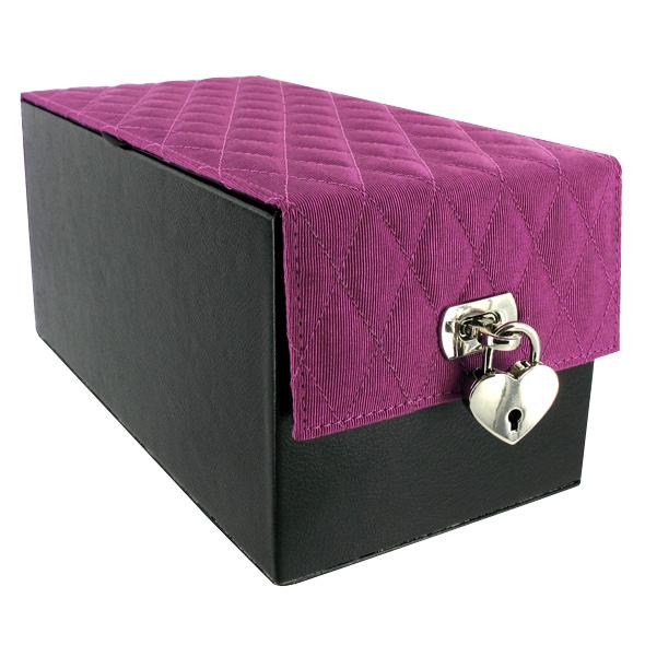 devine toy box purple quilt
