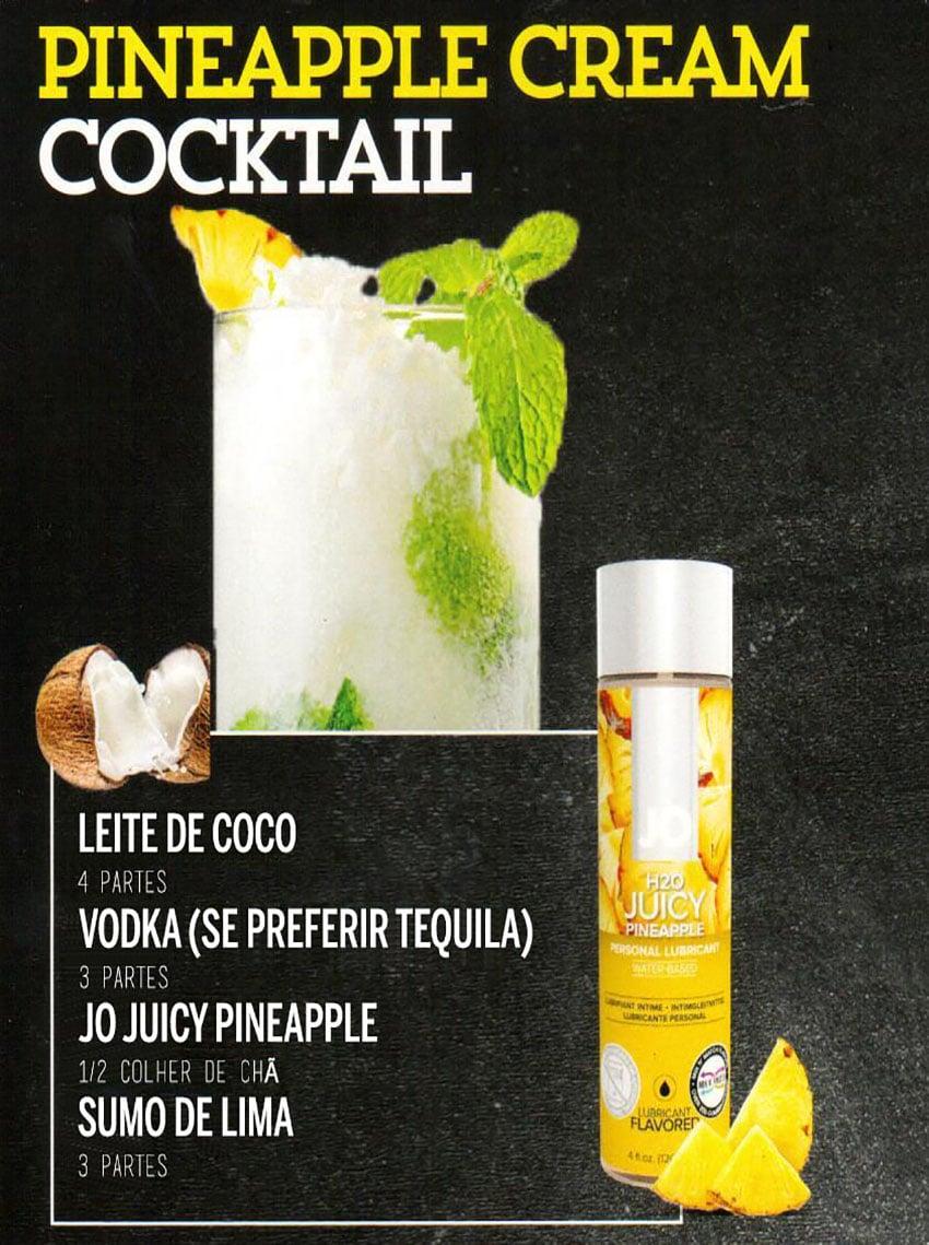 Drinks Eróticos - Pineapple Cream com Lubrificante Jo H2O Ananás