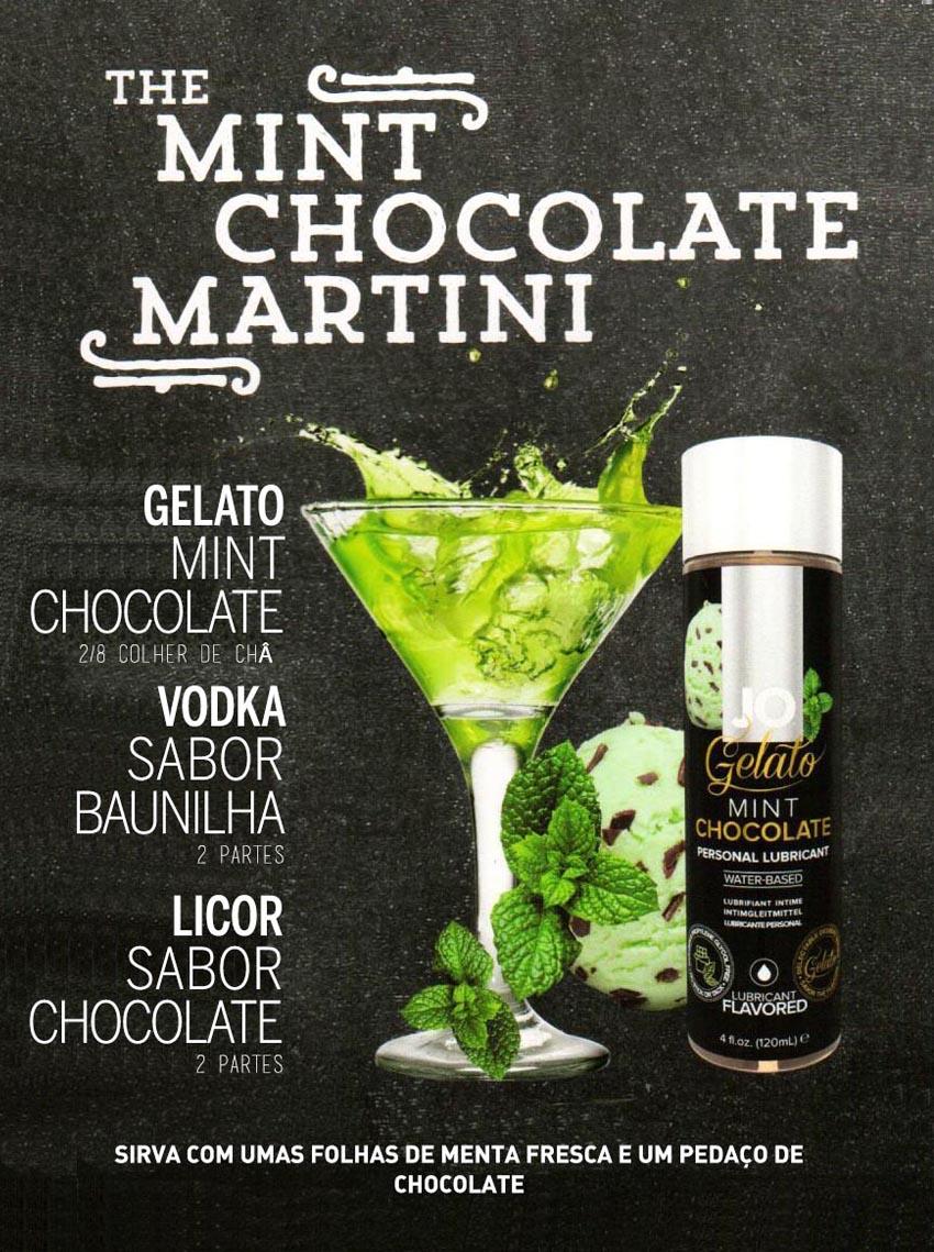 Drinks Eróticos - The Mint Chocolate Martini com Lubrificante Jo Gelado Chocolate e Menta