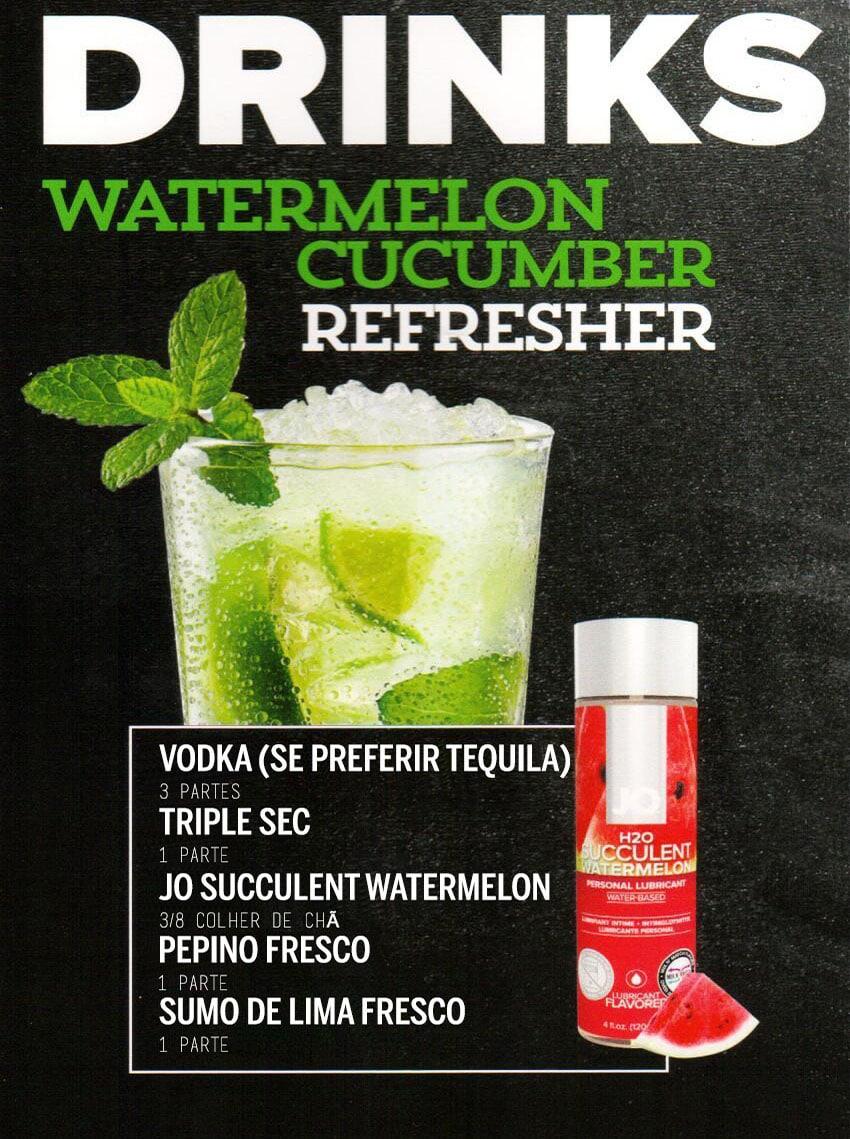 Drinks Eróticos - Watermelon Cucumber Lubrificante Jo H2O Melancia