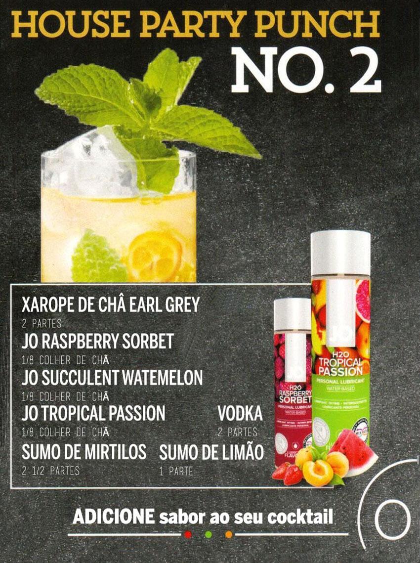 Drink Eróticos - House Party Punch com Lubrificante Jo H2O Melancia e Jo H2O Frutos Tropicais
