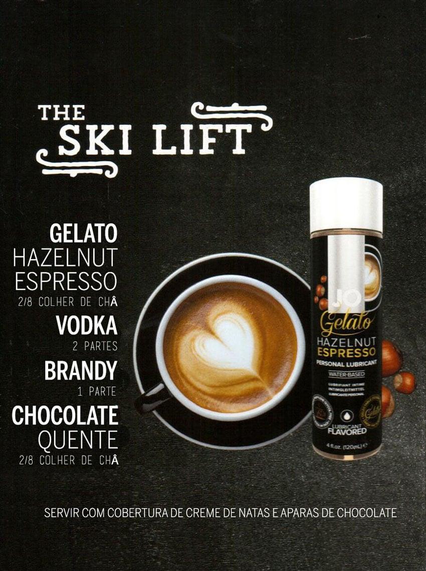 Drinks Eróticos - The Ski Lift com Lubrificante Jo Gelado Café e Avelãs