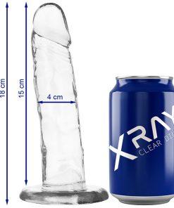 Dildo Jelly 18CM XRay - Vibrolandia