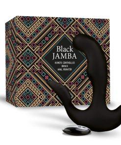 Estimulador Anal Unisexo Black Jamba Com Aquecimento - Vibrolandia
