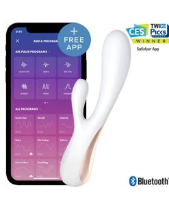 Satisfyer Vibrador Rabbit Mono Flex App - Vibrolandia