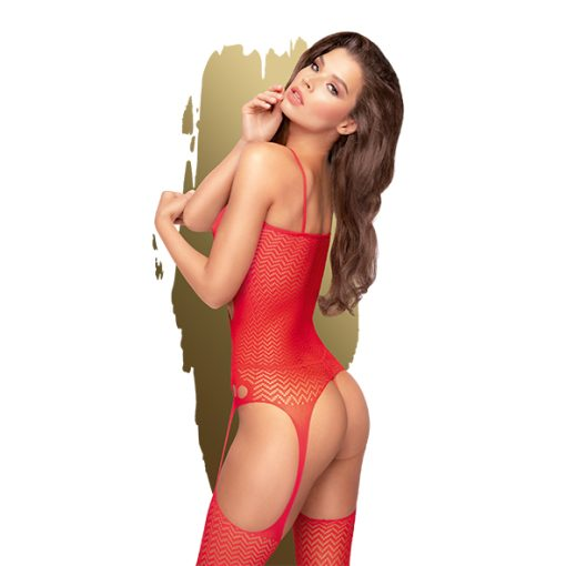 Bodystocking Hot Nightfall Vermelho Penthouse - Vibrolandia